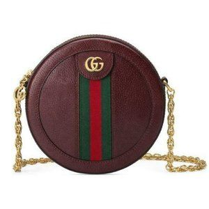 Gucci Mini Ophidia Bordeaux Red Leather